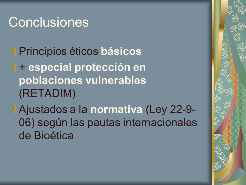 Conclusiones Principios éticos básicos