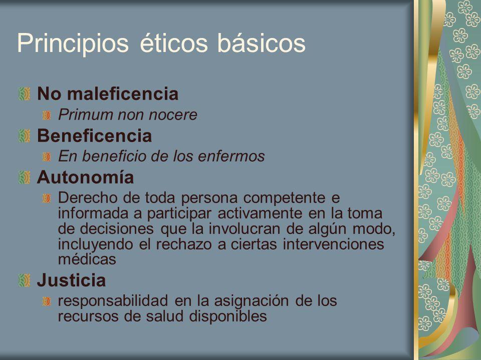 Principios éticos básicos