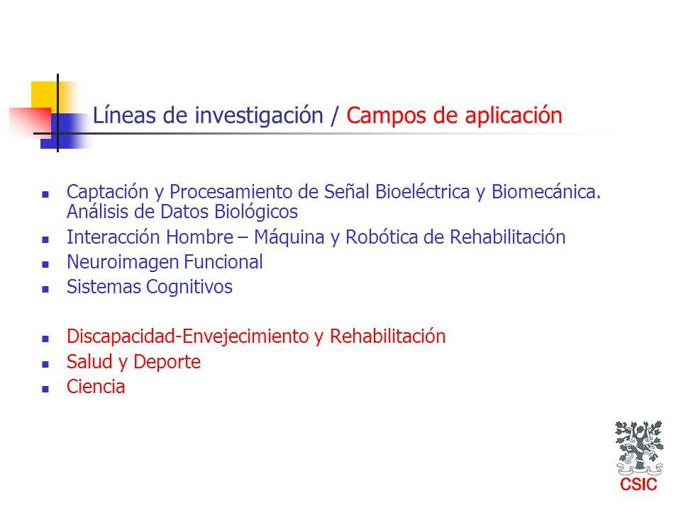 Líneas de investigación / Campos de aplicación