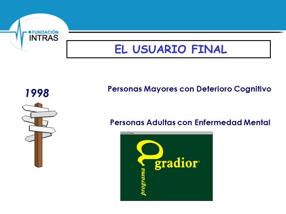 EL USUARIO FINAL 1998 1998 Personas Mayores con Deterioro Cognitivo