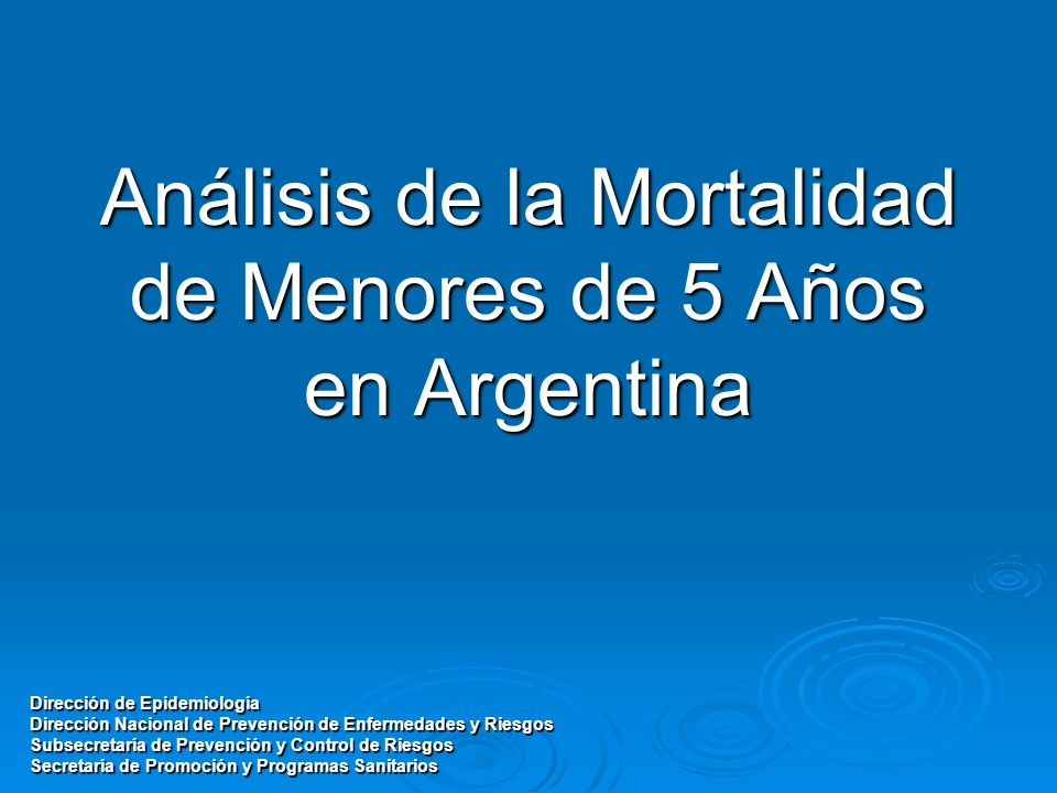 Análisis de la Mortalidad de Menores de 5 Años en Argentina