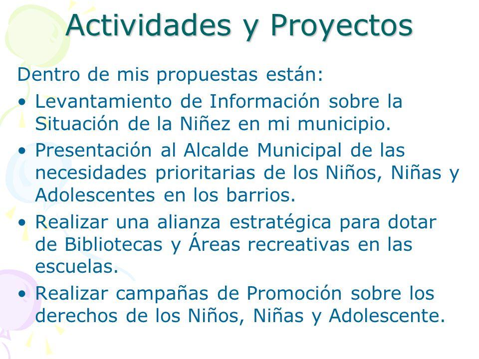 Actividades y Proyectos