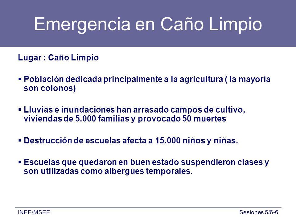 Emergencia en Caño Limpio