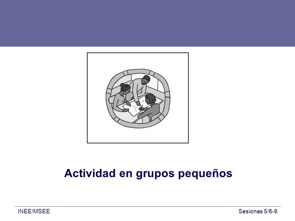 Actividad en grupos pequeños