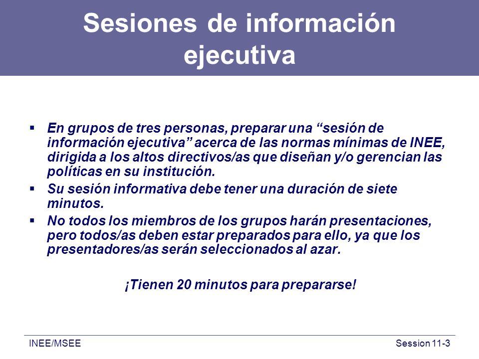 Sesiones de información ejecutiva
