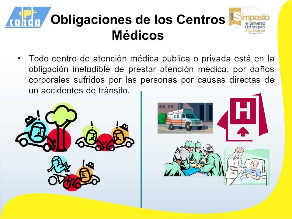 Obligaciones de los Centros Médicos
