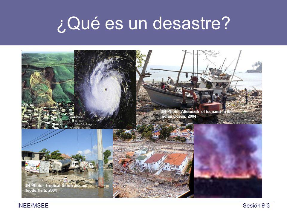 ¿Qué es un desastre INEE/MSEE
