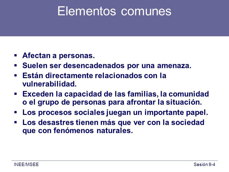 Elementos comunes Afectan a personas.