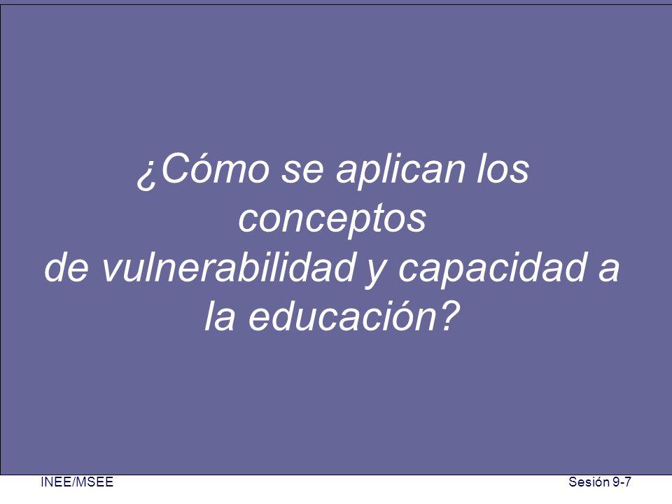 ¿Cómo se aplican los conceptos de vulnerabilidad y capacidad a la educación