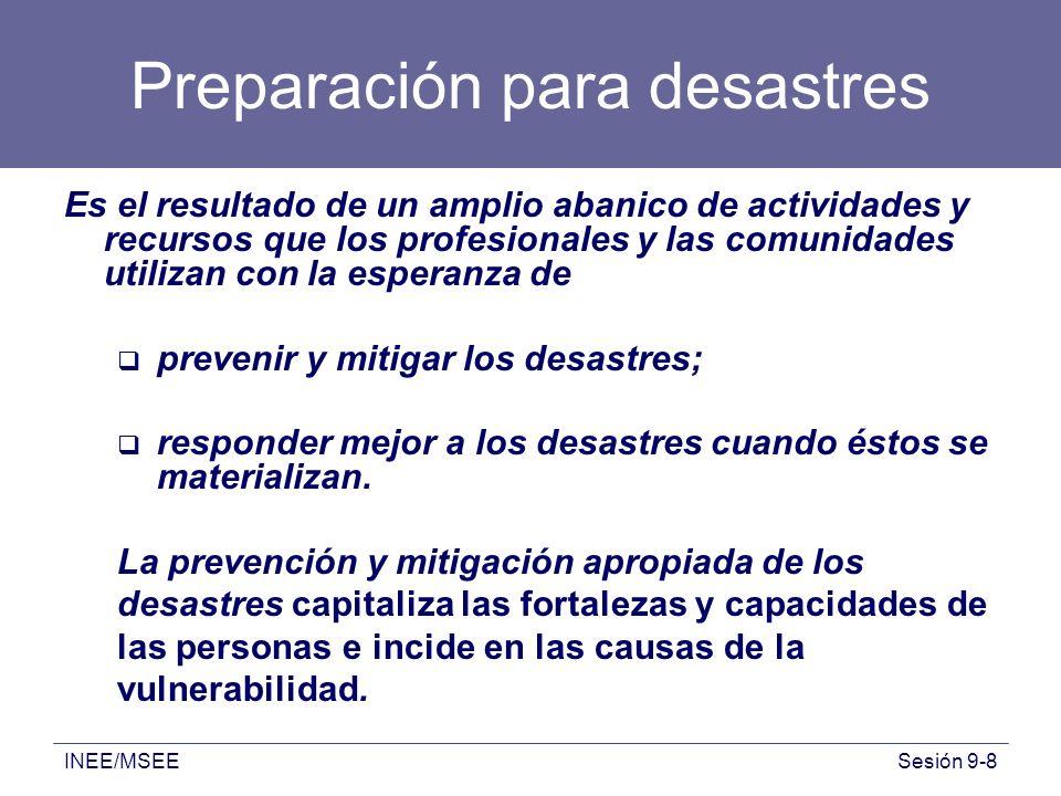 Preparación para desastres