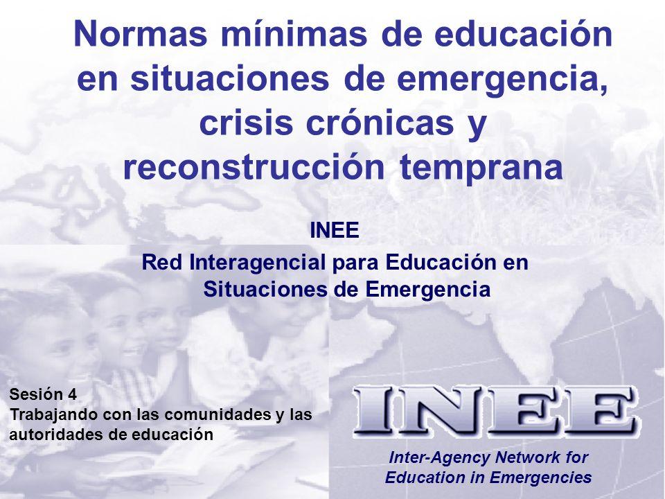 Normas mínimas de educación en situaciones de emergencia, crisis crónicas y reconstrucción temprana