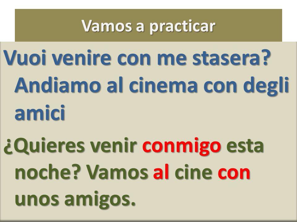 Vuoi venire con me stasera Andiamo al cinema con degli amici