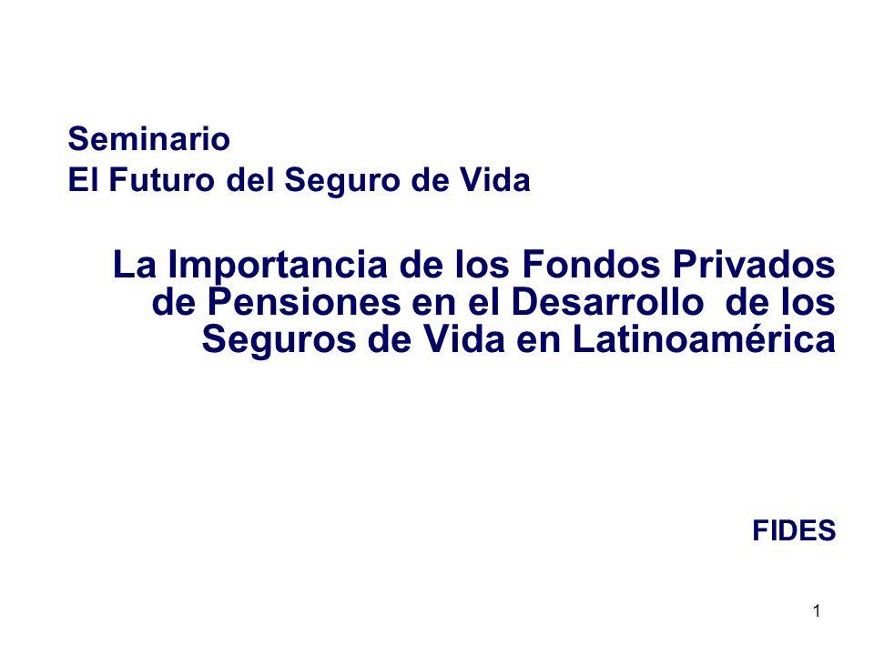 Seminario El Futuro del Seguro de Vida. La Importancia de los Fondos Privados de Pensiones en el Desarrollo de los Seguros de Vida en Latinoamérica.