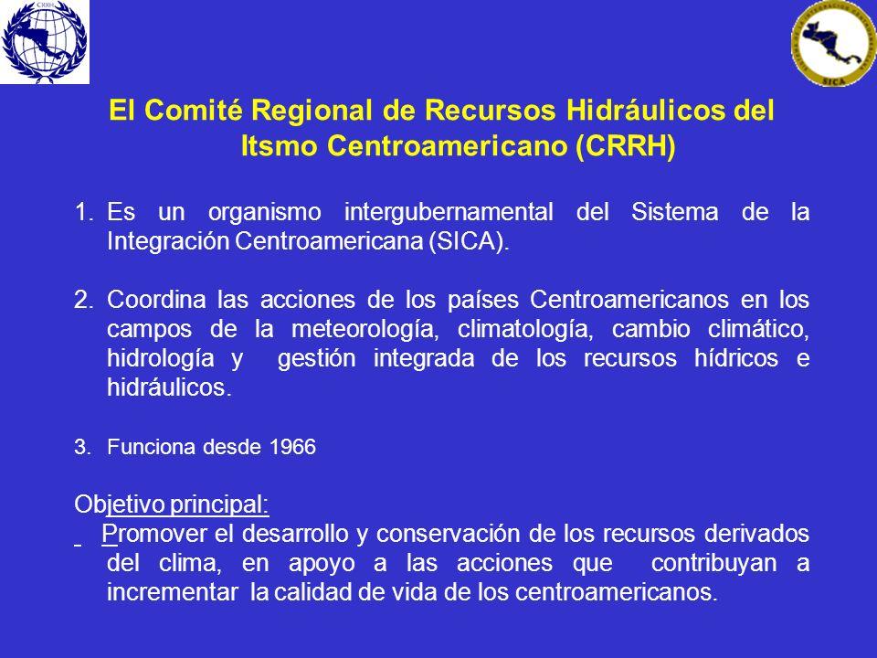 El Comité Regional de Recursos Hidráulicos del Itsmo Centroamericano (CRRH)