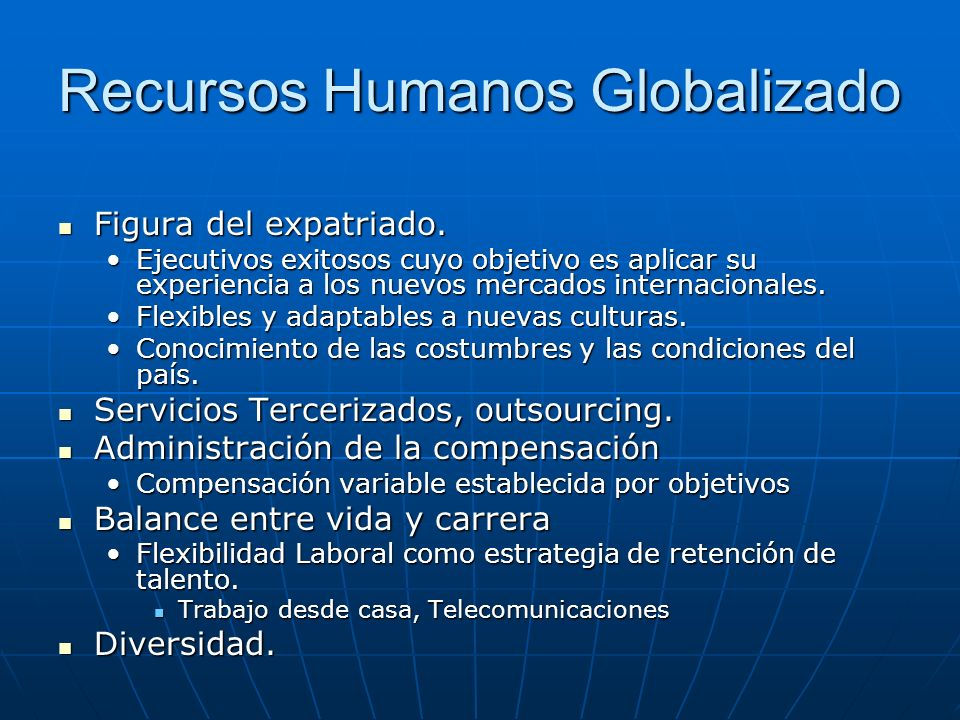 Recursos Humanos Globalizado