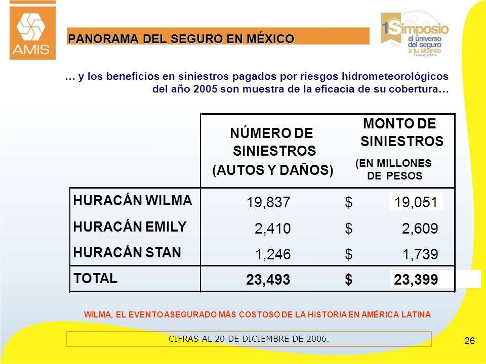 PANORAMA DEL SEGURO EN MÉXICO