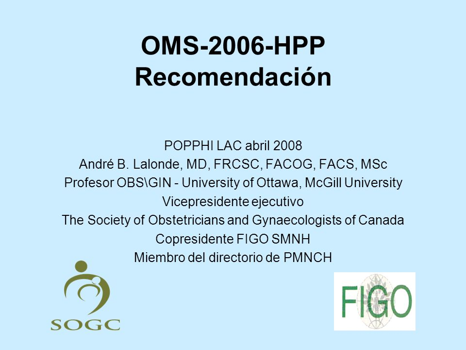 OMS-2006-HPP Recomendación