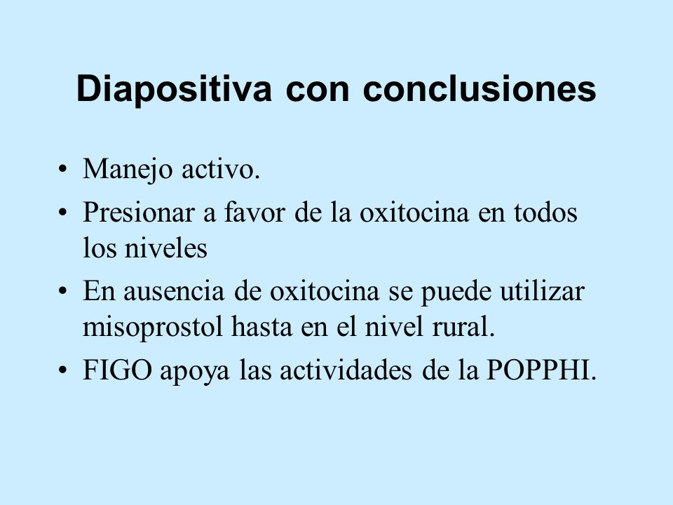 Diapositiva con conclusiones