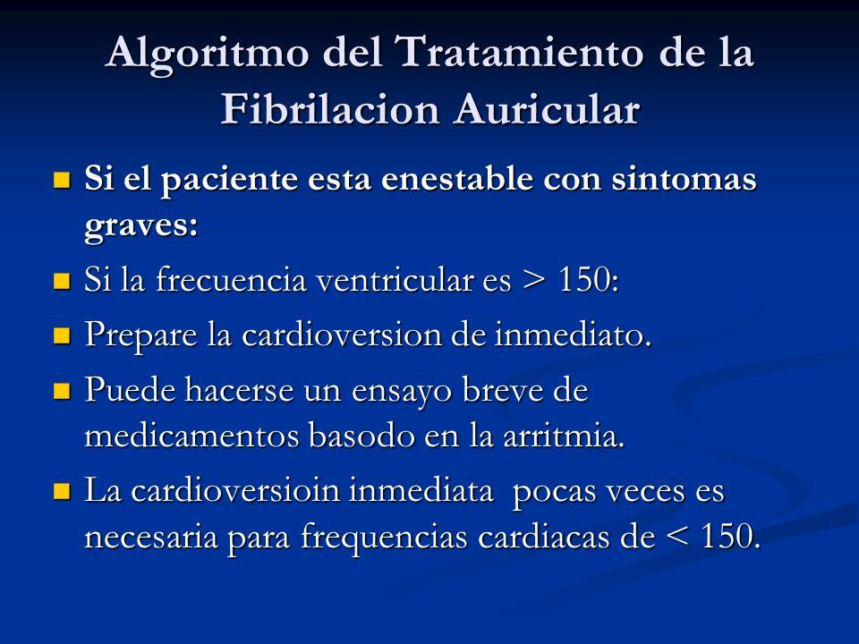 Algoritmo del Tratamiento de la Fibrilacion Auricular