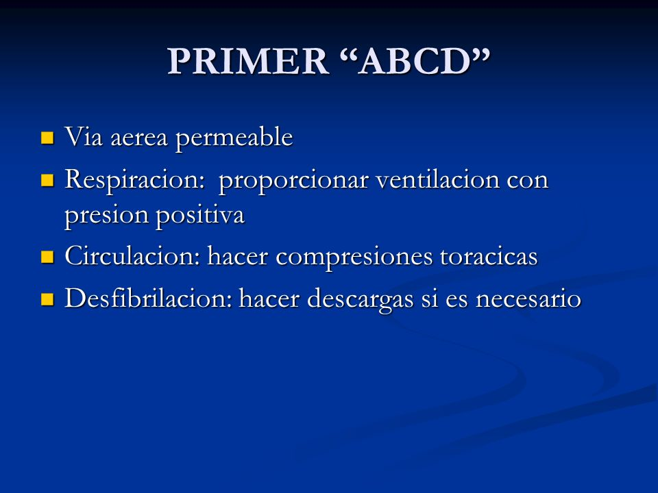 PRIMER ABCD Via aerea permeable