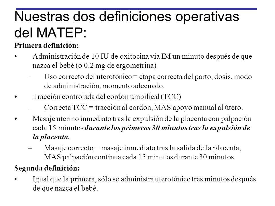 Nuestras dos definiciones operativas del MATEP: