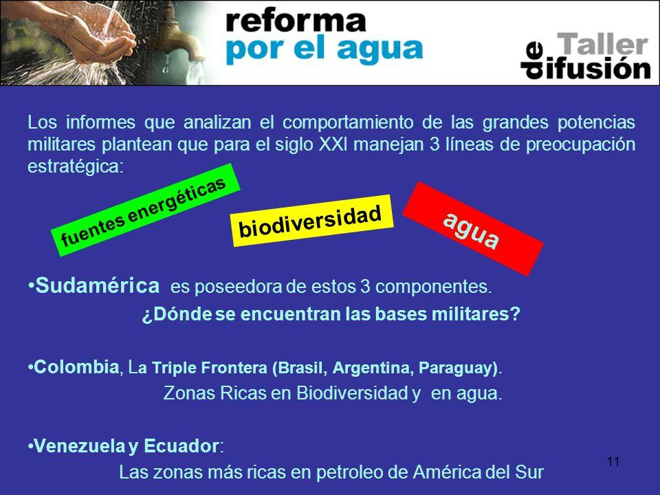 agua Sudamérica es poseedora de estos 3 componentes. biodiversidad