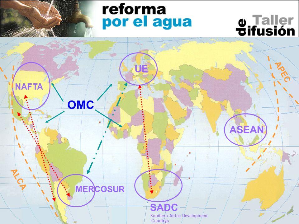 OMC UE ASEAN SADC APEC NAFTA ALCA MERCOSUR Southern Africa Development