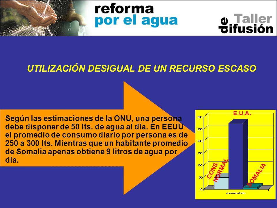UTILIZACIÓN DESIGUAL DE UN RECURSO ESCASO