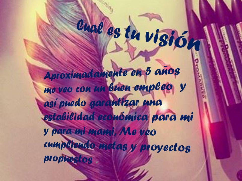 Cual es tu visión
