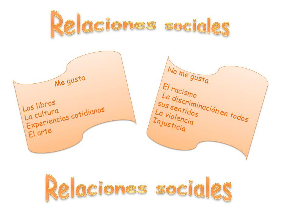 Relaciones sociales Relaciones sociales No me gusta Me gusta