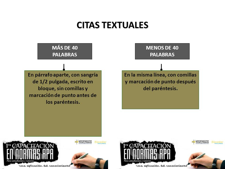 CITAS TEXTUALES MÁS DE 40 PALABRAS