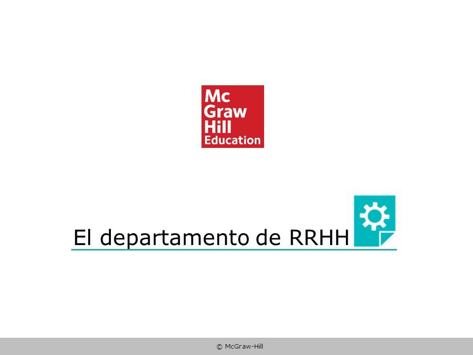 El departamento de RRHH
