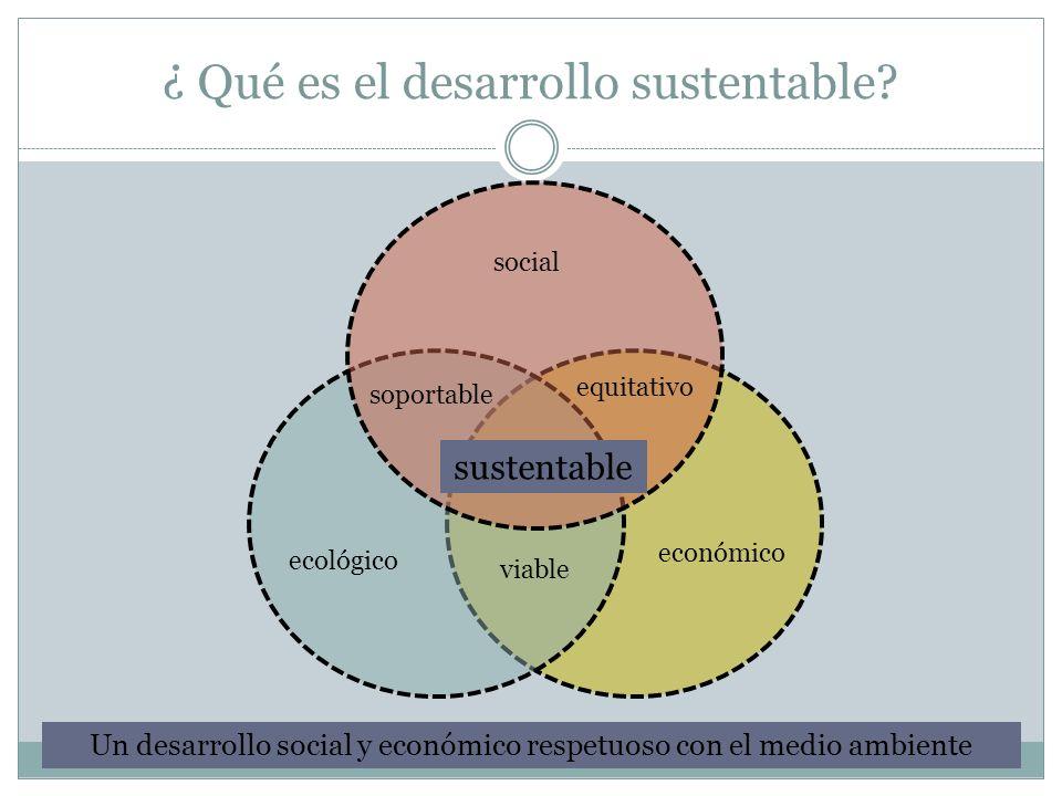 ¿ Qué es el desarrollo sustentable
