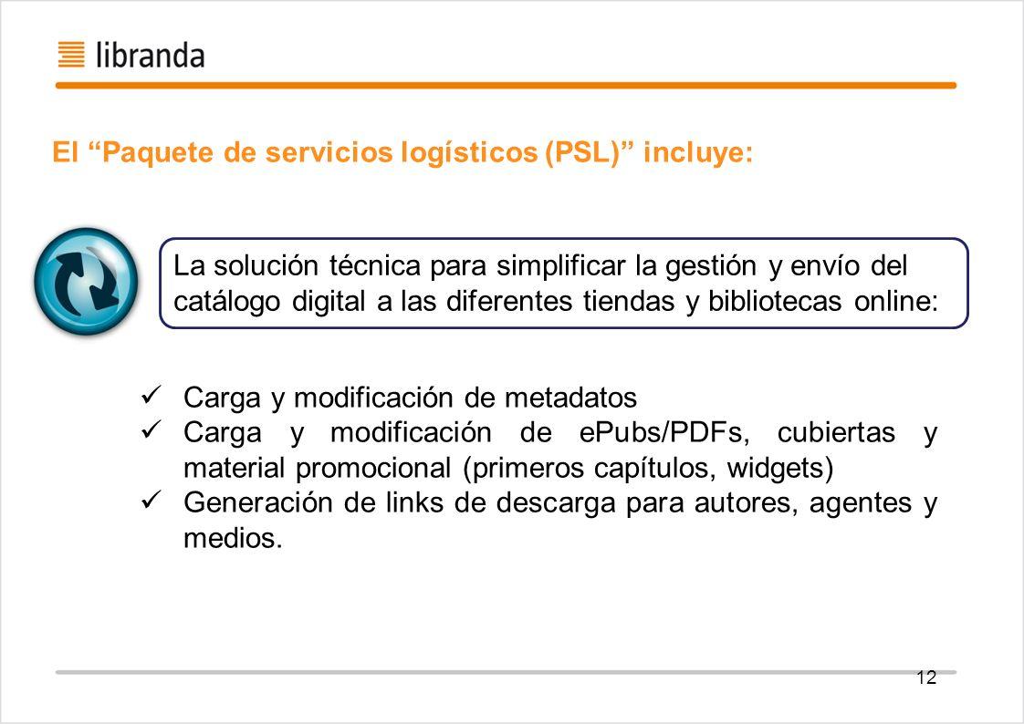 El Paquete de servicios logísticos (PSL) incluye:
