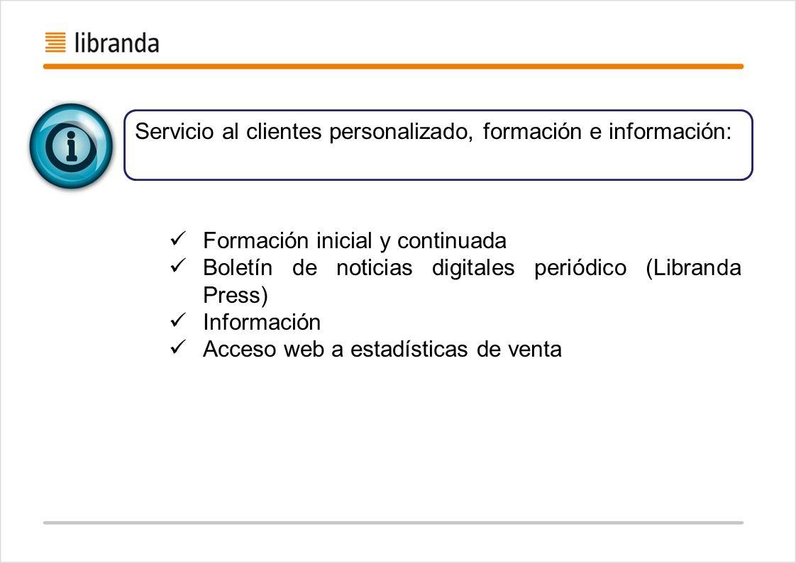 Servicio al clientes personalizado, formación e información: