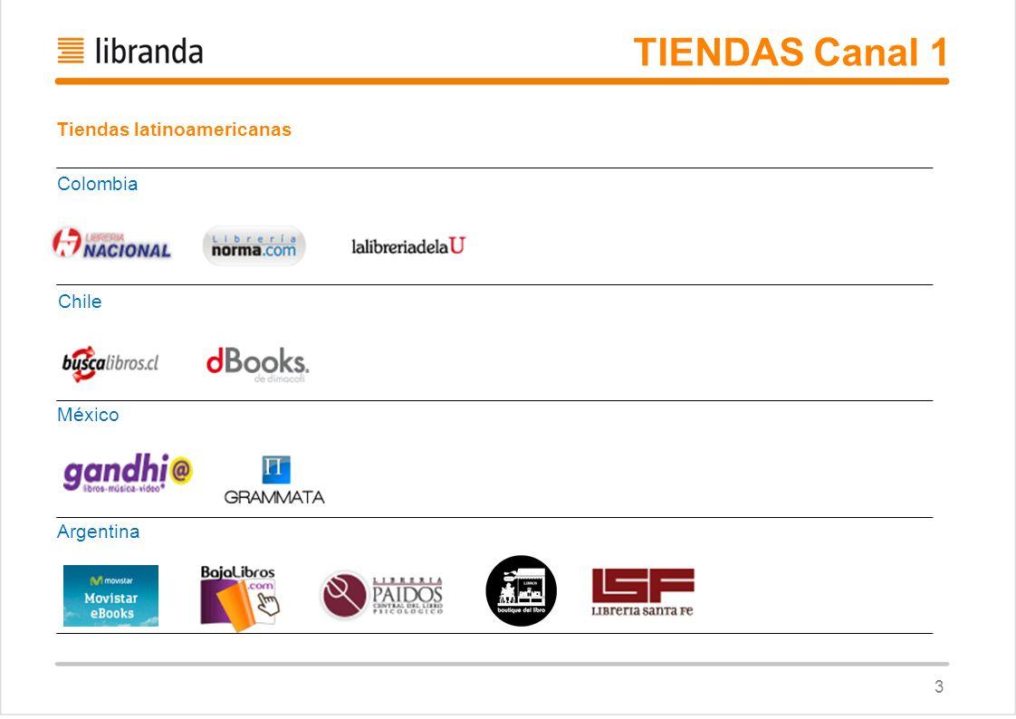 TIENDAS Canal 1 Tiendas latinoamericanas Colombia Chile México