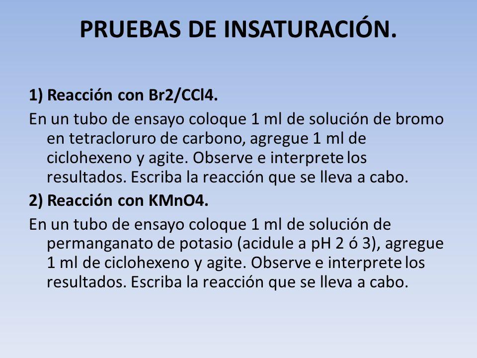 PRUEBAS DE INSATURACIÓN.