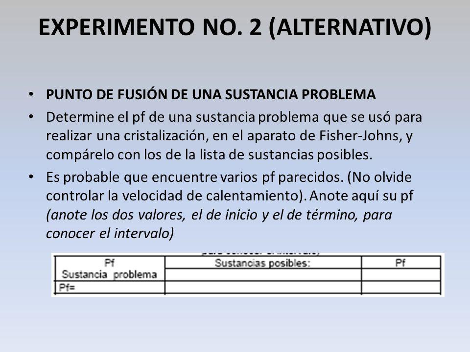 EXPERIMENTO NO. 2 (ALTERNATIVO)