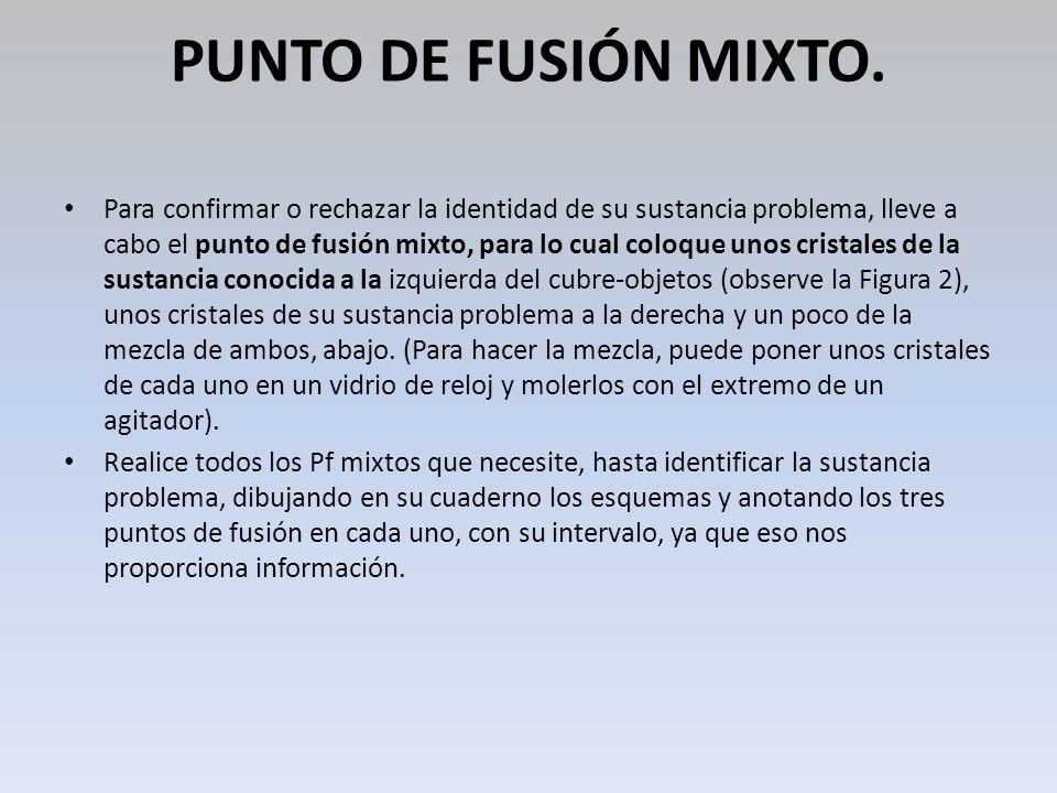 PUNTO DE FUSIÓN MIXTO.