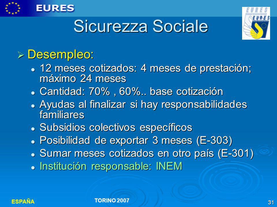 Sicurezza Sociale Desempleo:
