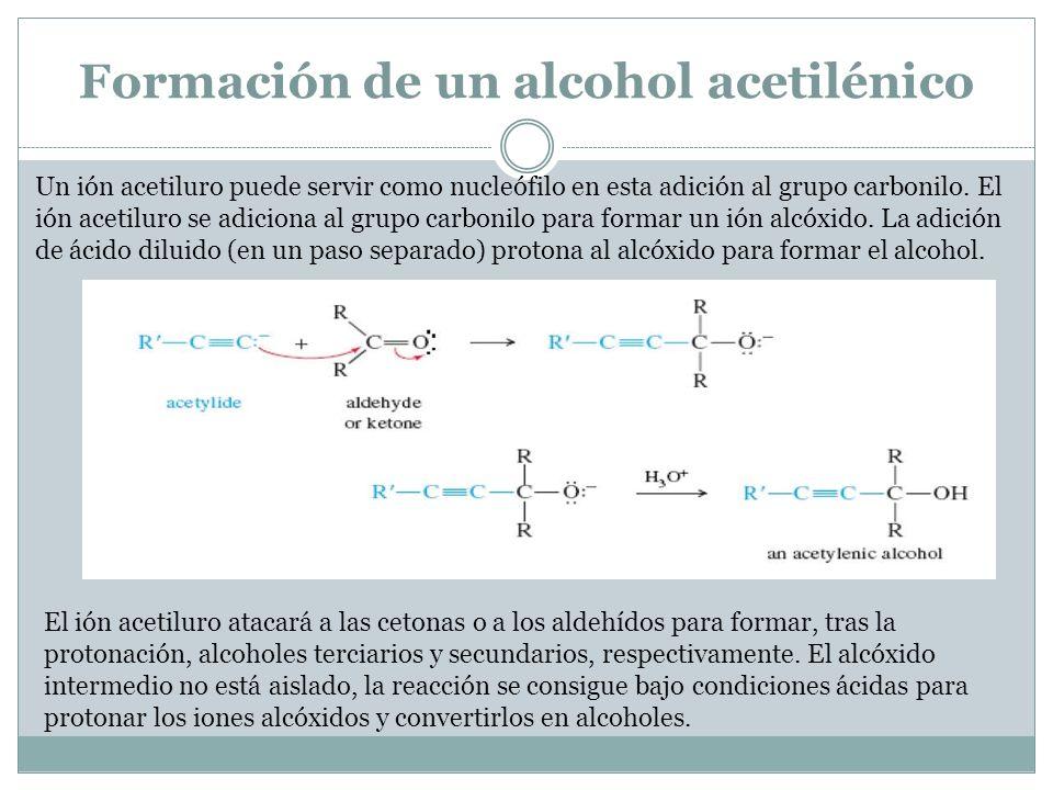 Formación de un alcohol acetilénico