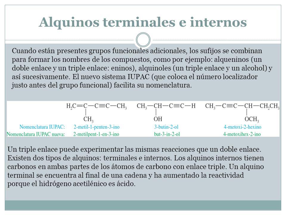 Alquinos terminales e internos