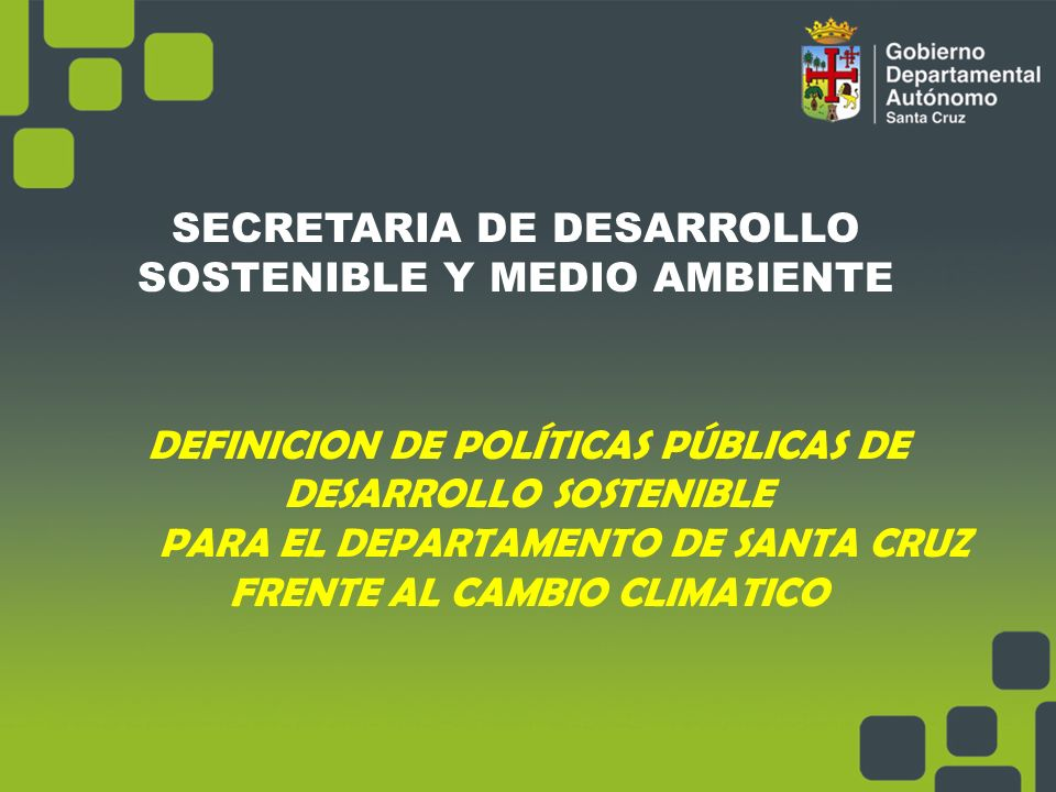 Secretaria de desarrollo sostenible y medio ambiente ppt for Oficina de medio ambiente