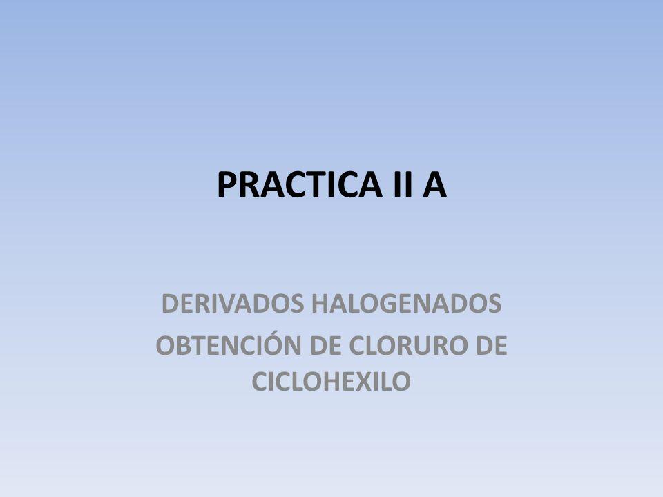 DERIVADOS HALOGENADOS OBTENCIÓN DE CLORURO DE CICLOHEXILO