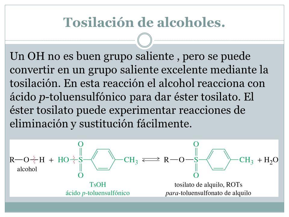 Tosilación de alcoholes.