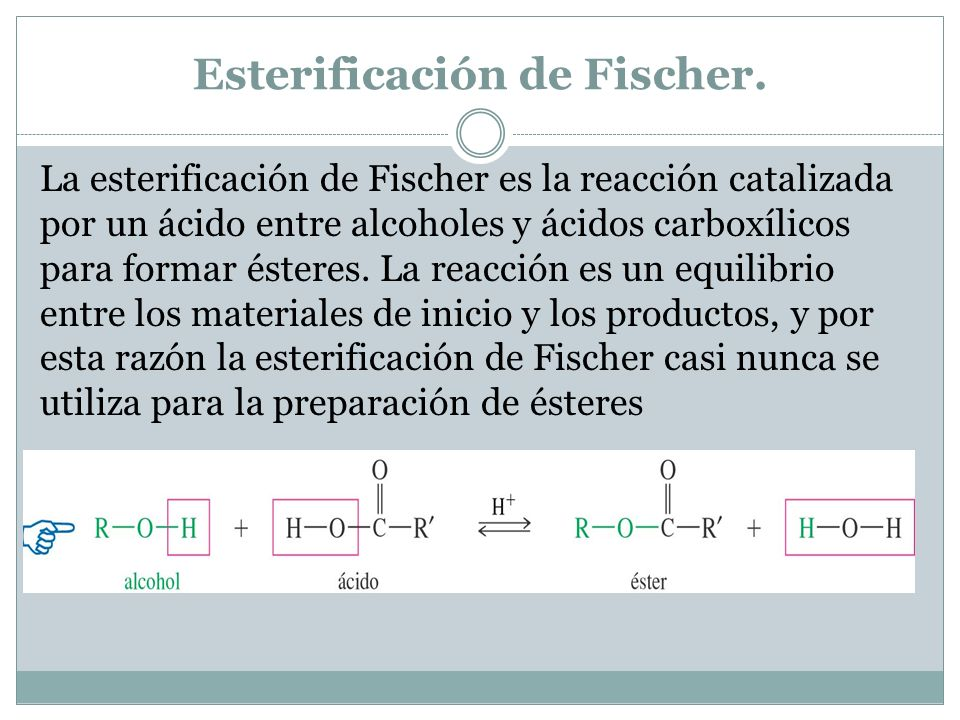 Esterificación de Fischer.