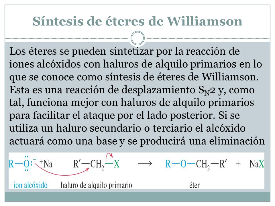 Síntesis de éteres de Williamson