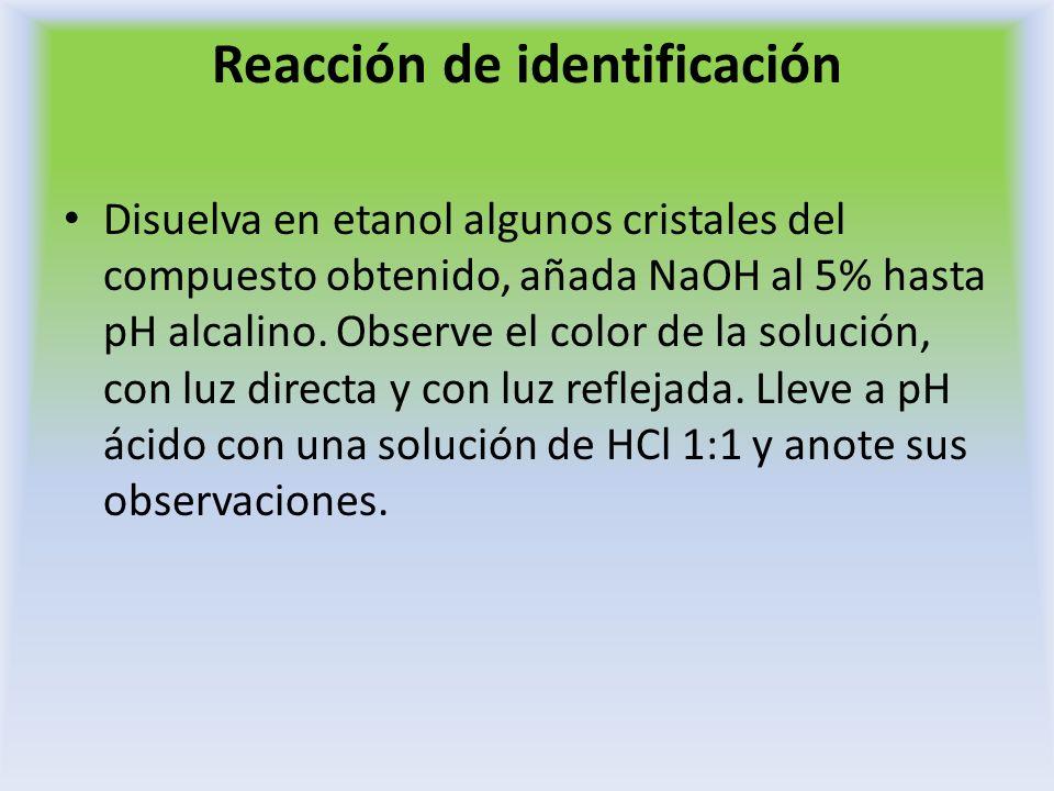 Reacción de identificación