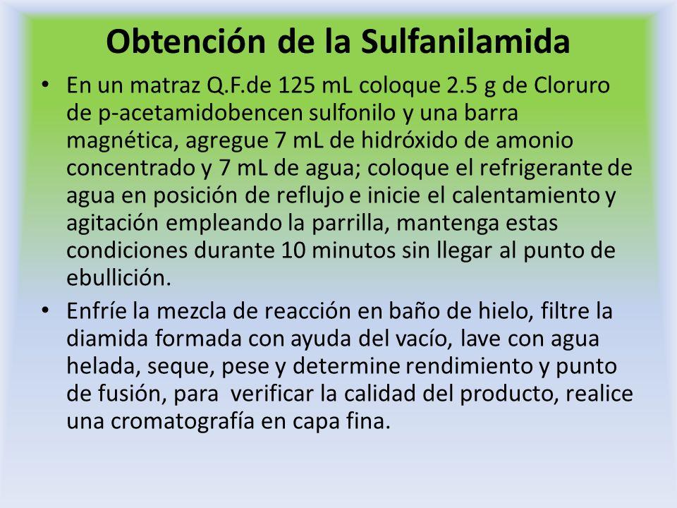 Obtención de la Sulfanilamida