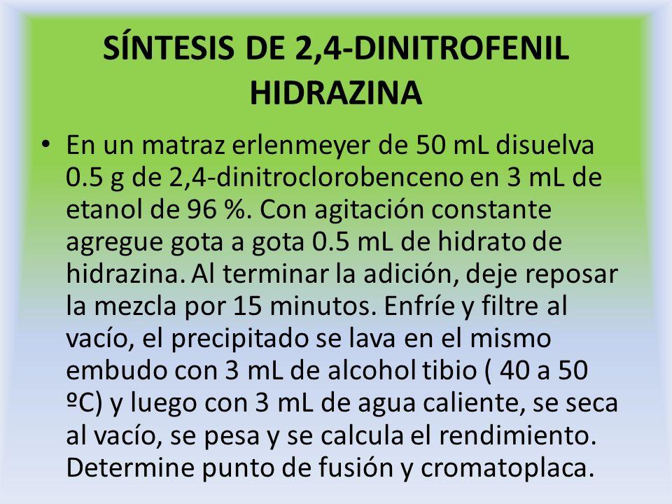 SÍNTESIS DE 2,4-DINITROFENIL HIDRAZINA